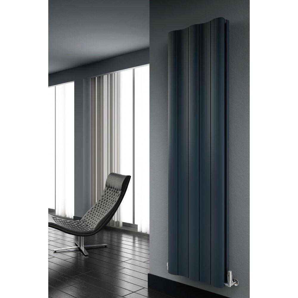 Gio modern designer vertical aluminium radiator 1800 designer radiators