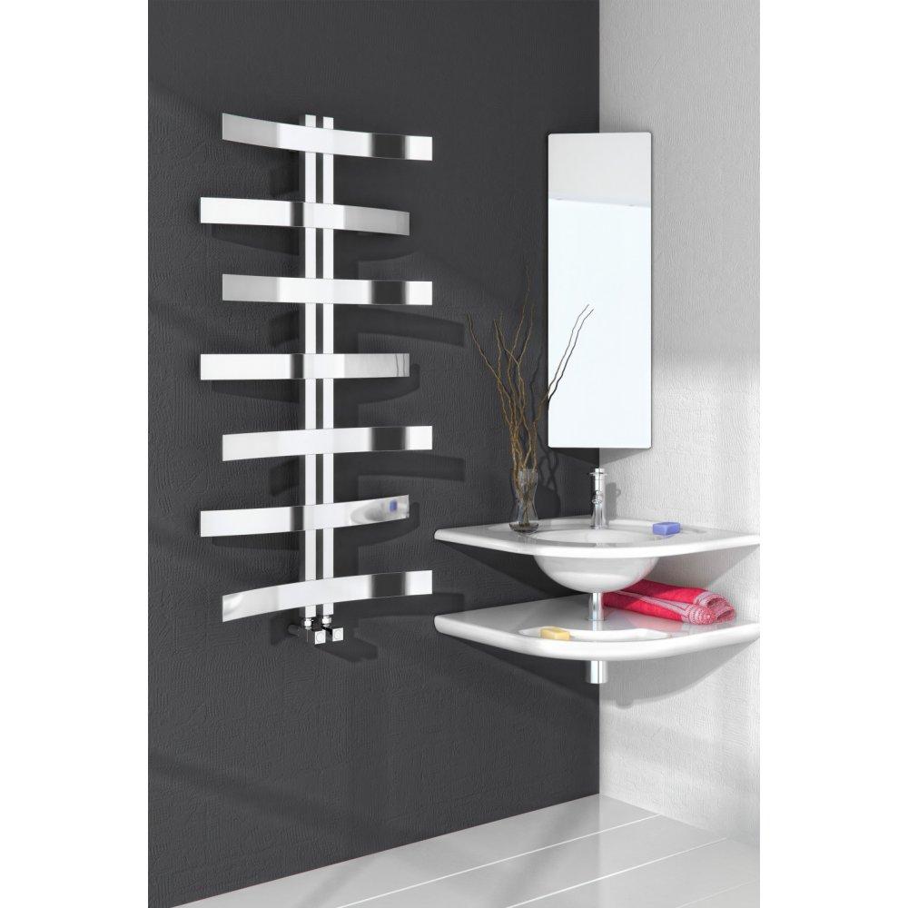 Lioni Modern Polished Stainless Steel Towel Radiator
