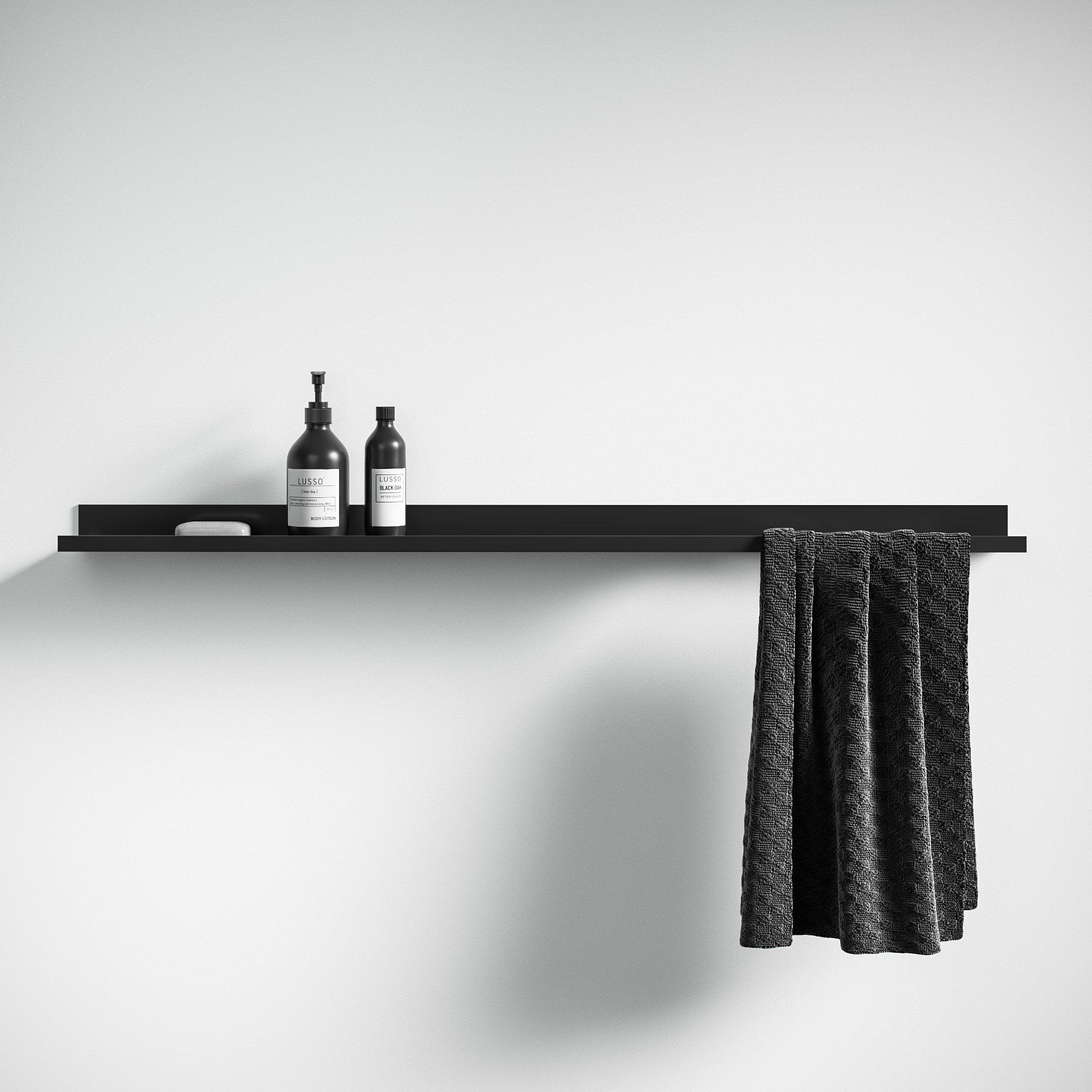 Lusso Designo Floating Shelf Matte Black 1200 Accessories