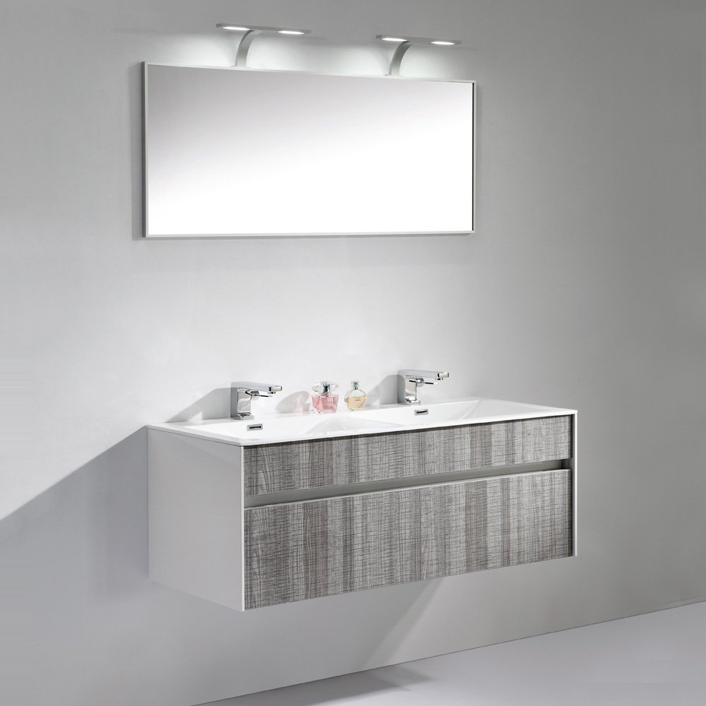 promo code 25553 f1f06 Lusso Encore Double Designer Wall Mounted Bathroom Vanity Unit 1200