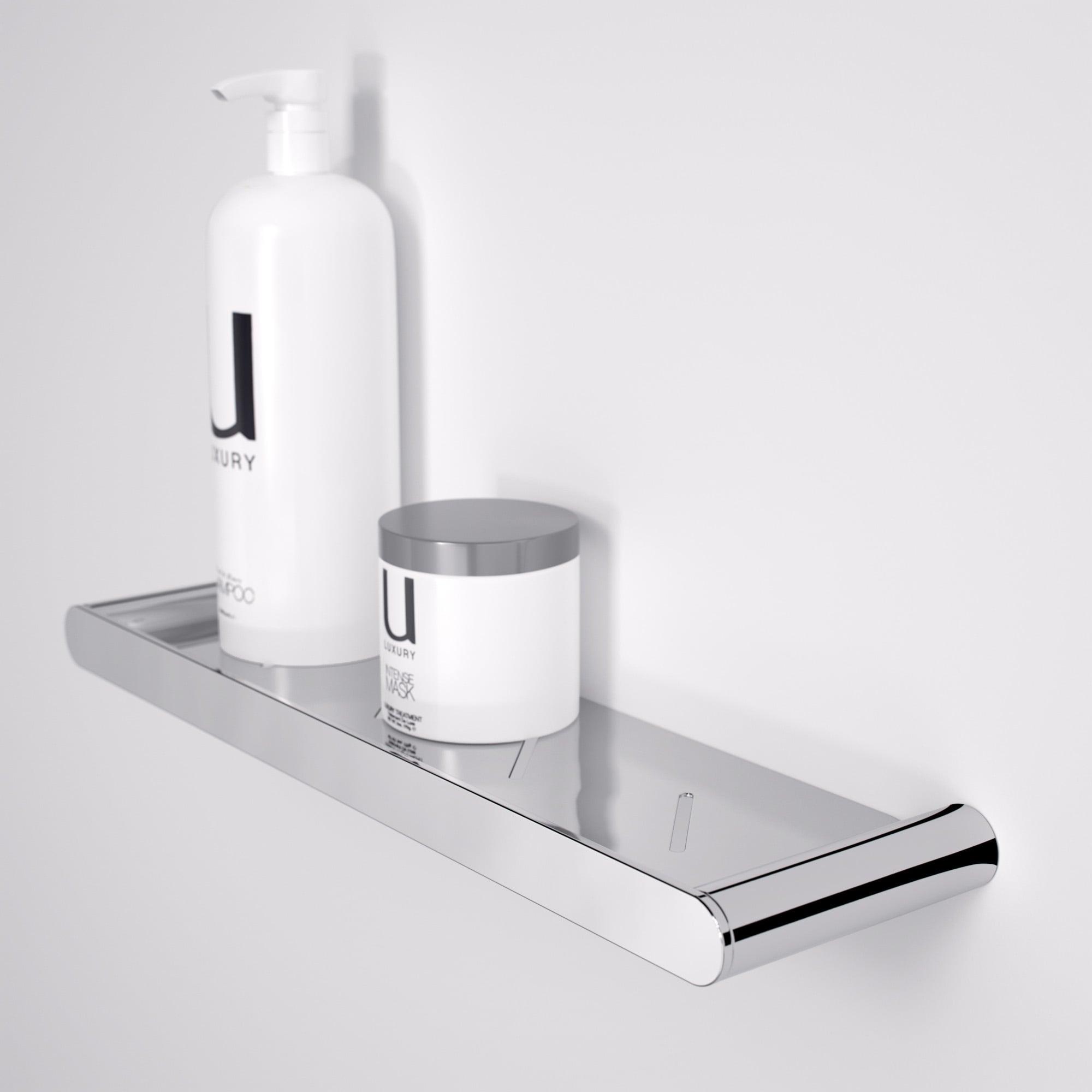 Lusso Stone & Lusso Luxe Bathroom Shower Shelf Chrome