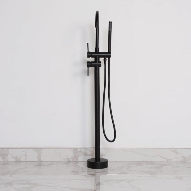 Lusso Luxe Series Floor Standing Bath Shower Mixer Tap Matte black