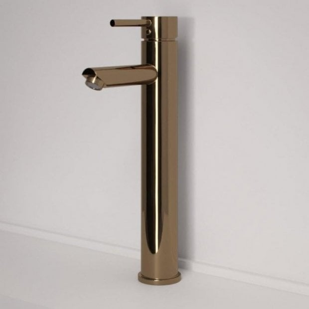 Lusso Luxe Series Tall High Neck Basin Mixer Tap Rose Gold