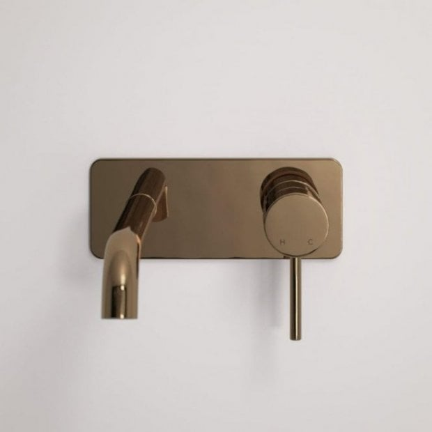 Lusso Luxe Series Wall Mounted Basin Mixer Tap Rose Gold
