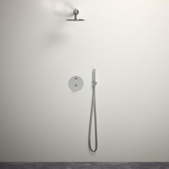 Lusso Luxe shower set with Thermostatic valve and Hand-held shower Chrome