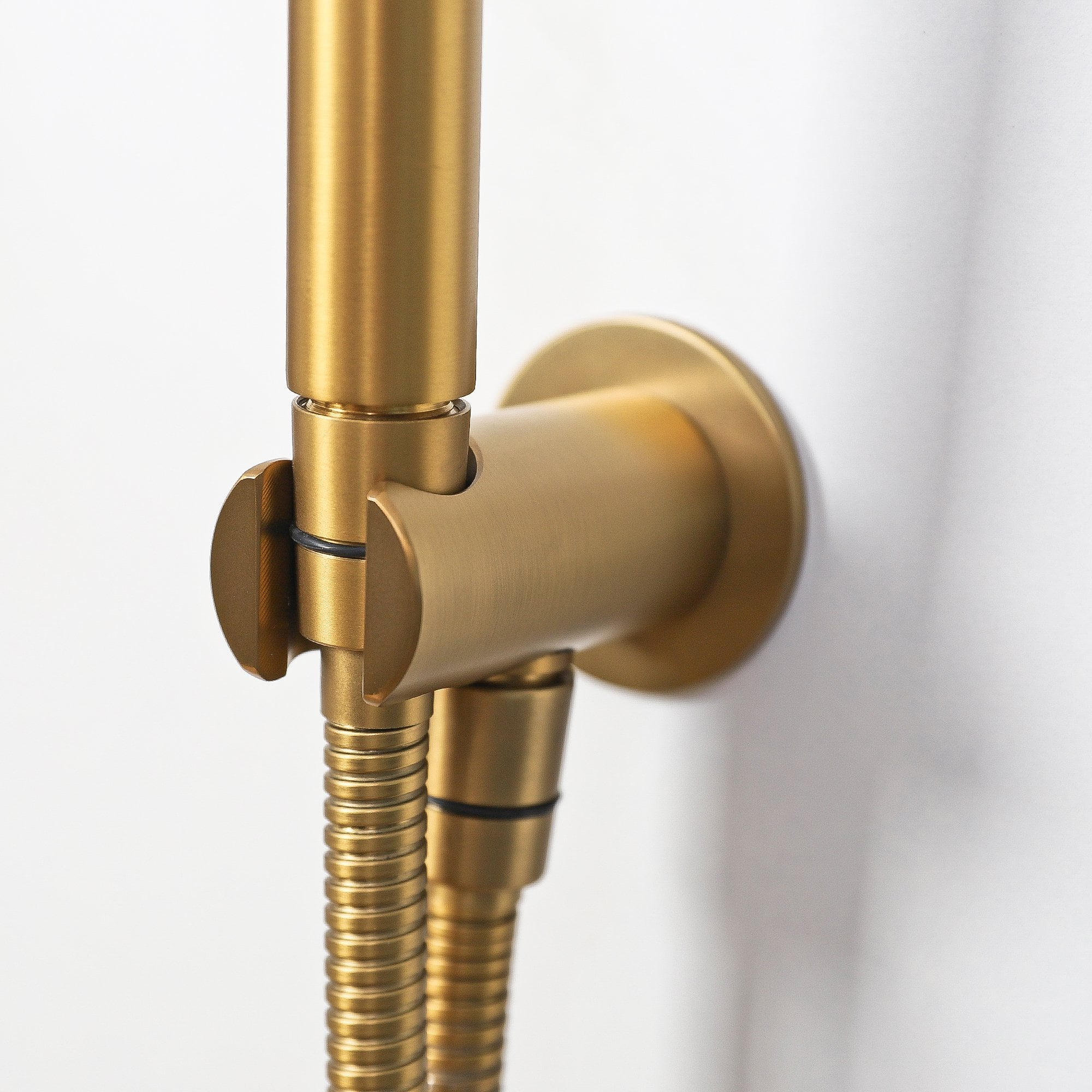 Lusso Luxe Thermostatic shower set with Handheld shower Brushed Gold ...