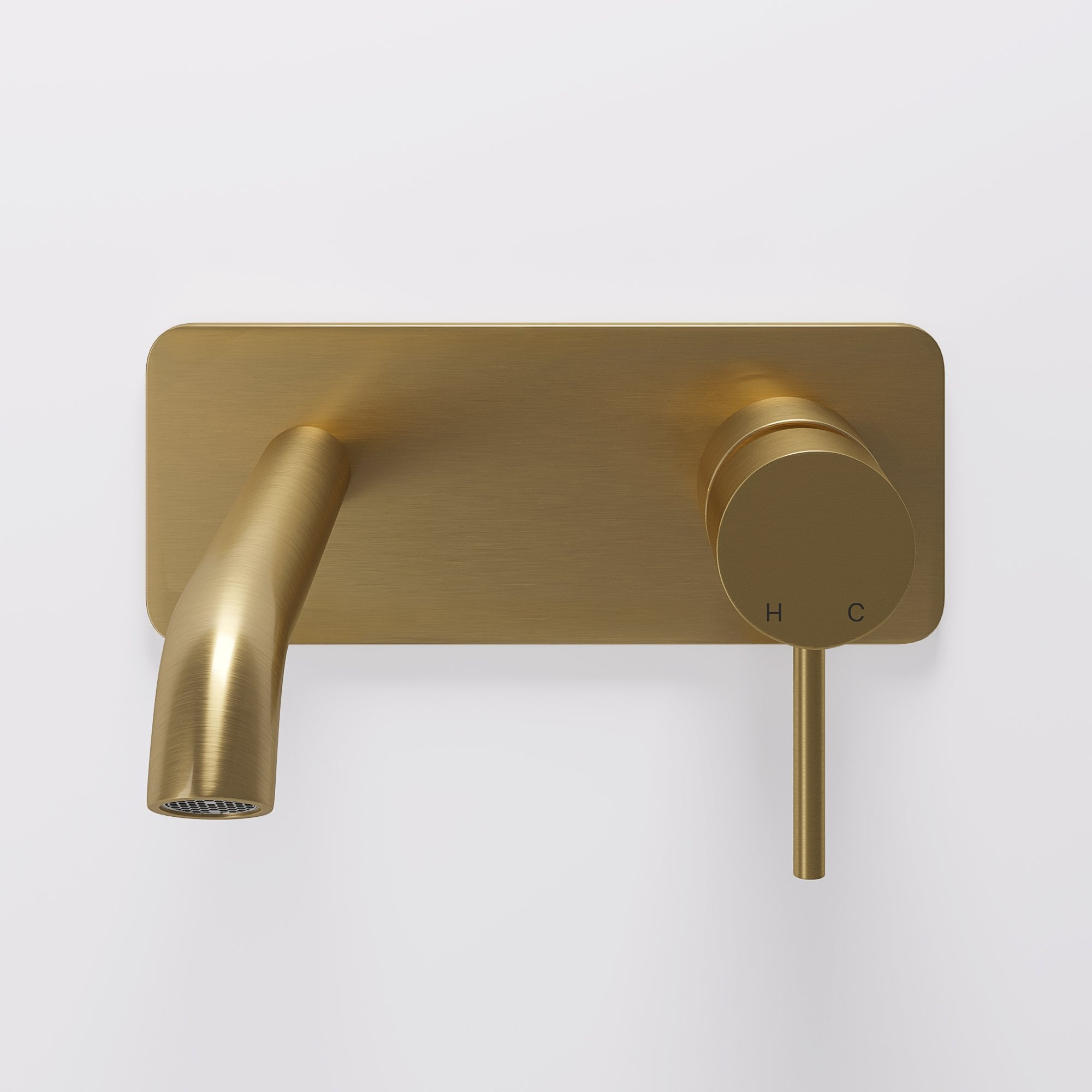 Lusso Luxe Wall Mounted Basin Mixer Tap Brushed Gold