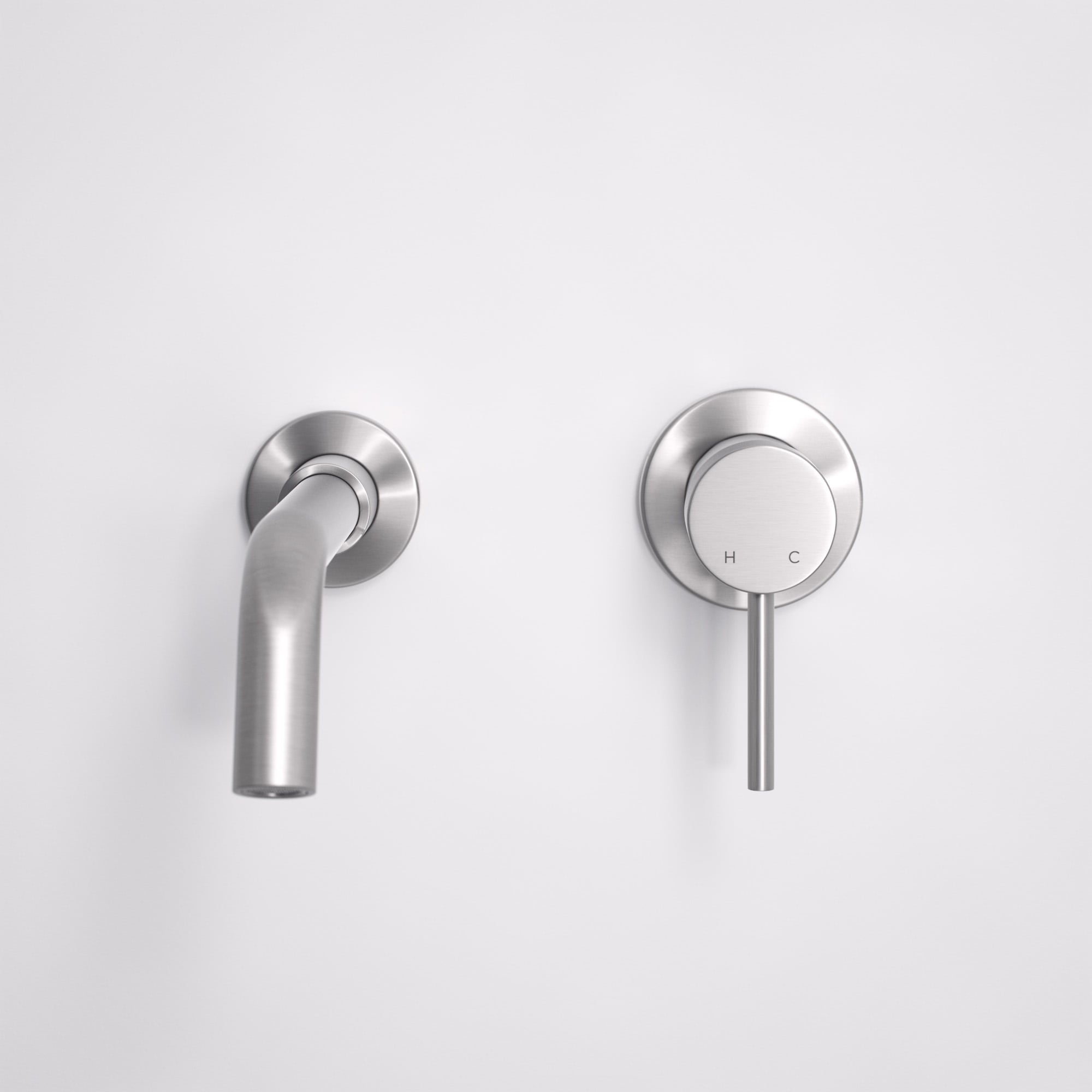 Lusso Luxe Wall Mounted Basin Mixer Tap Spout And Valve