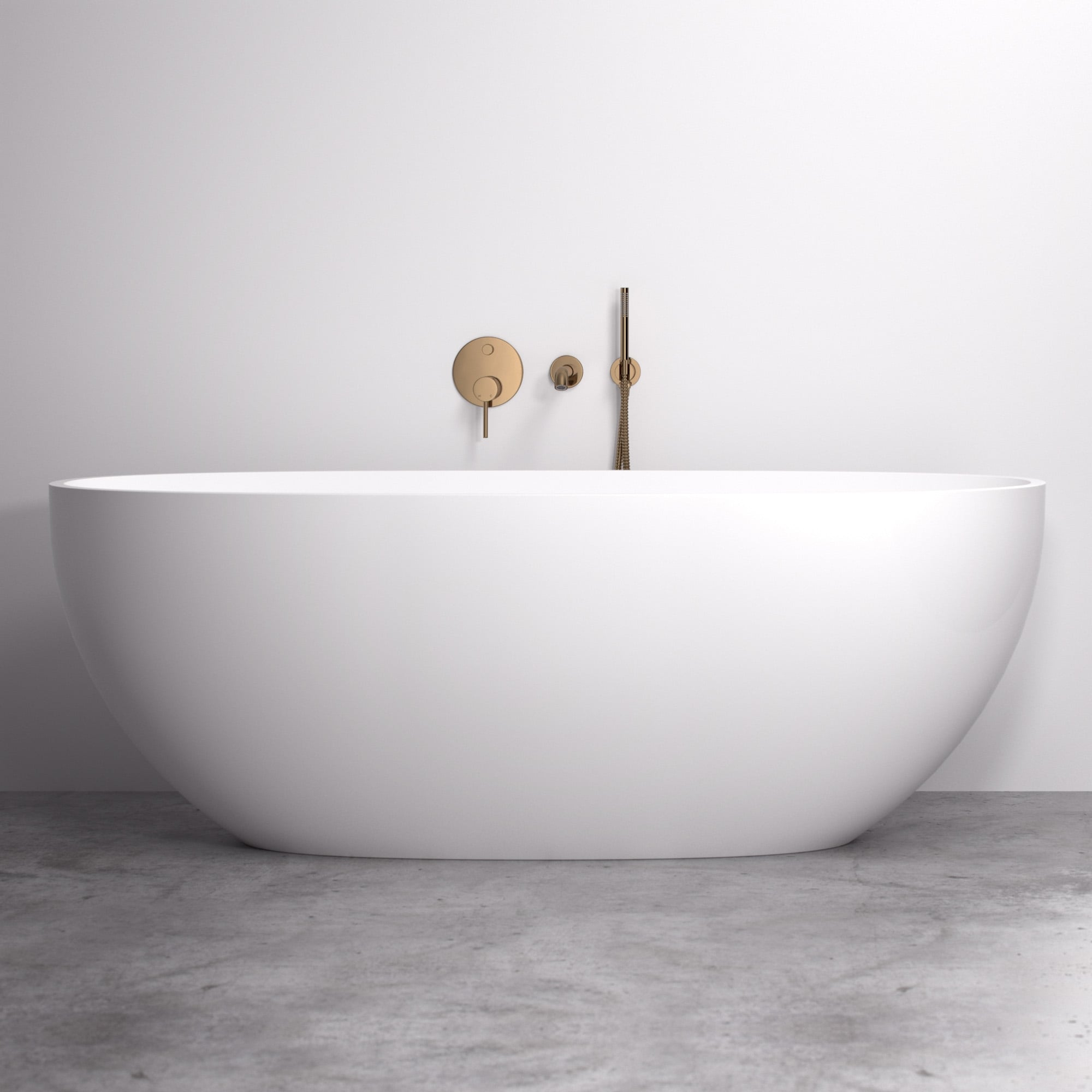 Lusso Luxe Wall mounted bath tap with valve and Handheld shower ...
