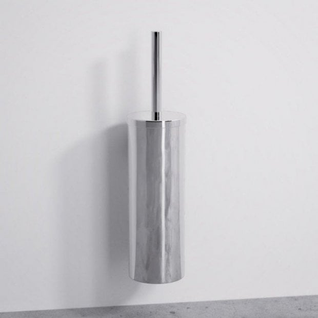 Lusso Luxe Wall Mounted Toilet Brush & Holder Chrome