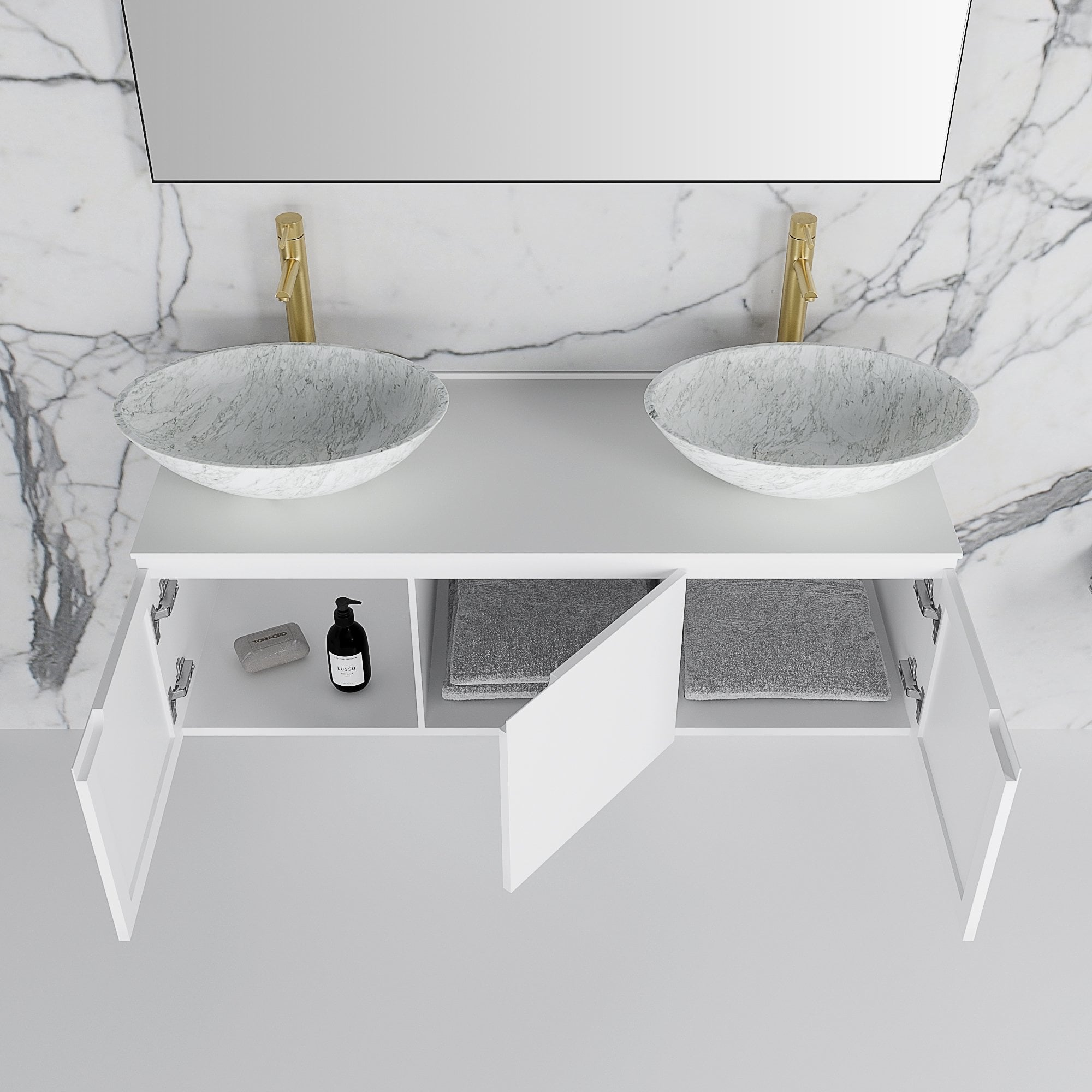 Bathroom Vanity Basin Cabinet Matte