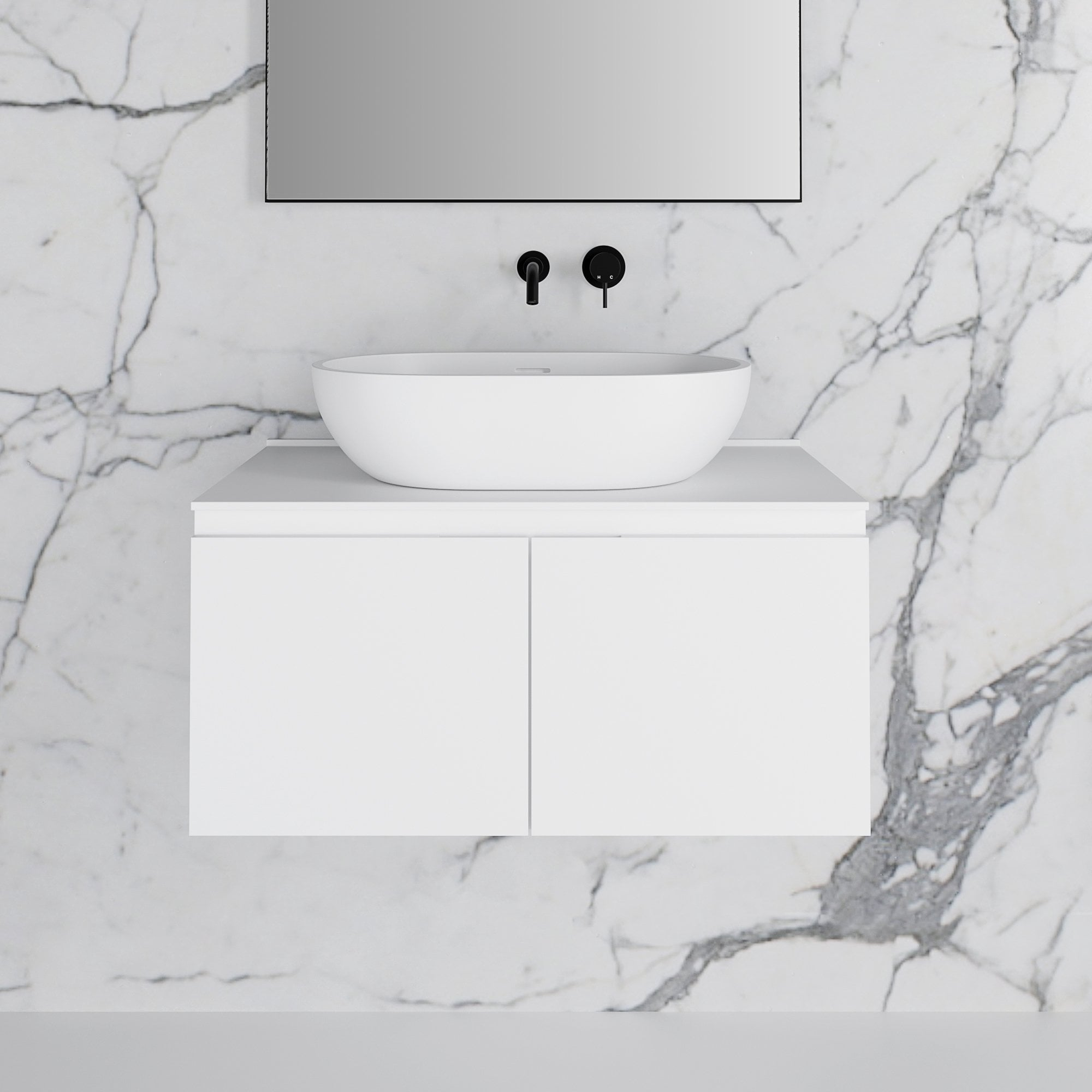 Bathroom Vanity Basin Storage Cabinet