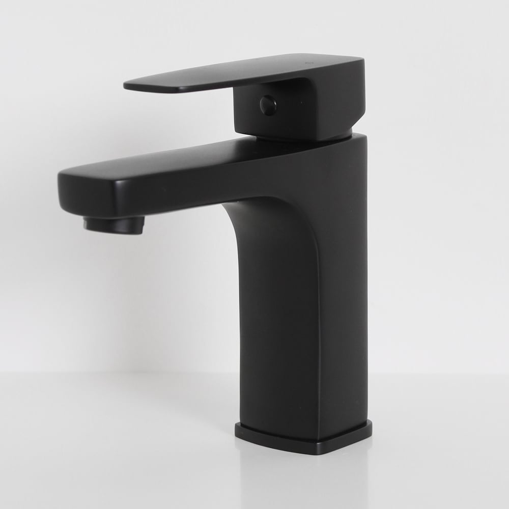 Lusso Mia Series Basin Mixer Tap Matte Black Taps
