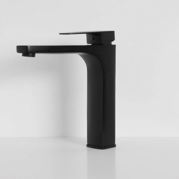 Lusso Mia Series Tall High Neck Basin Mixer Tap Matte black