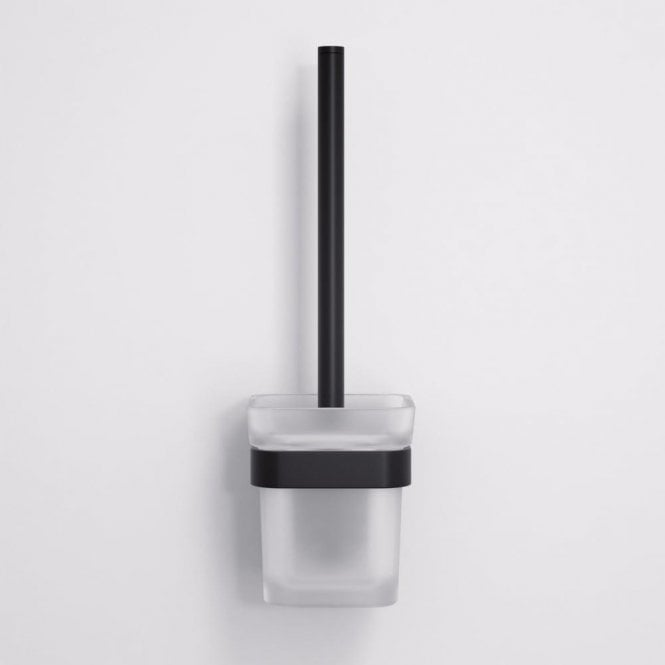 Lusso Mia Toilet Brush & Holder Matte Black