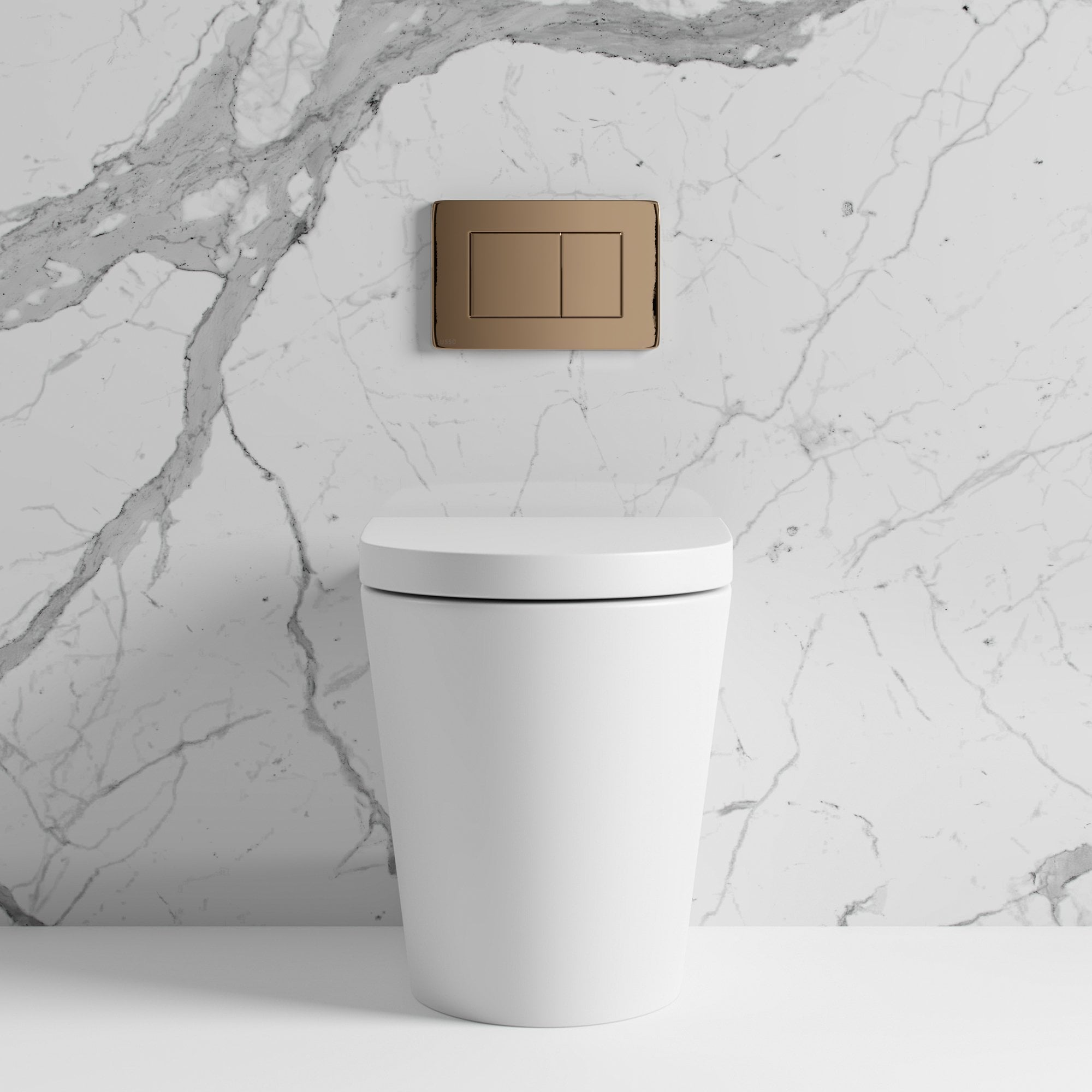 Lusso Senza Back To Wall Rimless Matte Toilet Inc Cistern