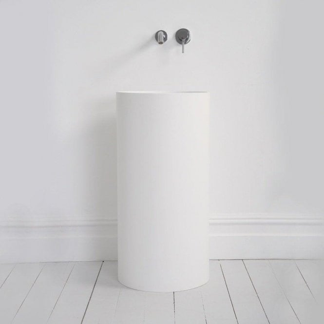 Lusso Stone Alina Solid Surface Stone Resin Freestanding Cylinder Basin 400