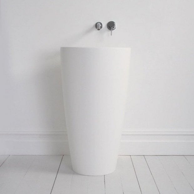 Lusso Stone Annelie Solid Surface Stone Resin Freestanding Cylinder Basin 500