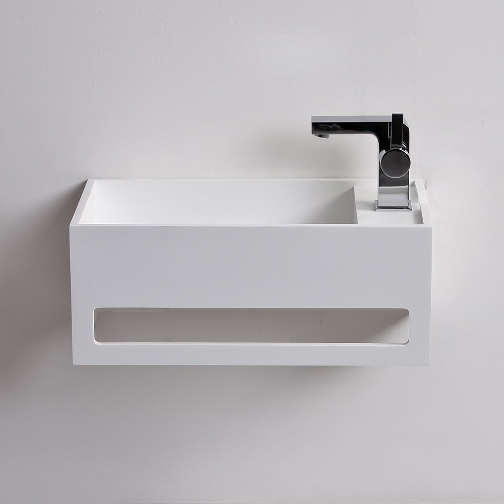 Lusso Stone Art Solid Surface Stone Resin Wall Hung Basin