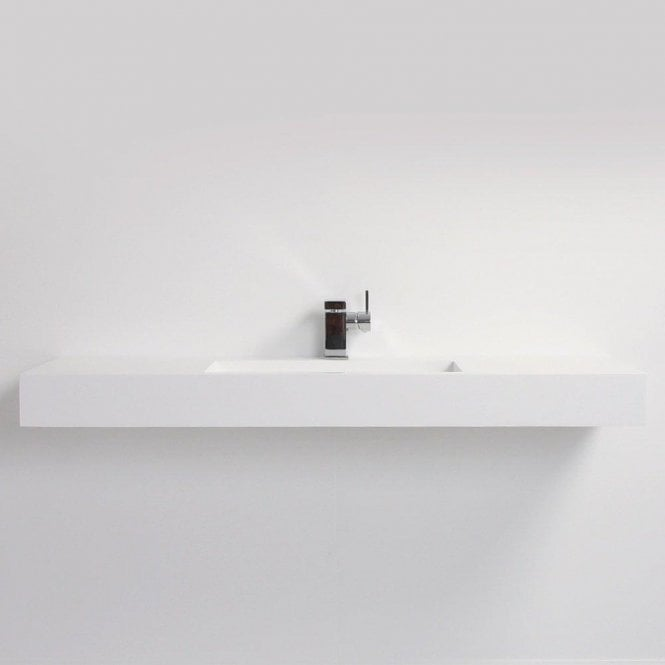 Lusso Stone Aura Solid Surface Stone Resin Wall Hung Counter Top Basin 1200
