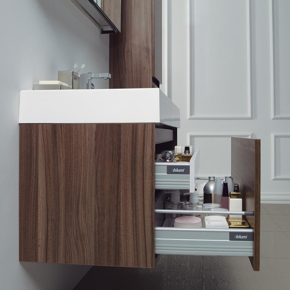 Stone Bagno walnut designer bathroom wall mounted vanity unit 1000