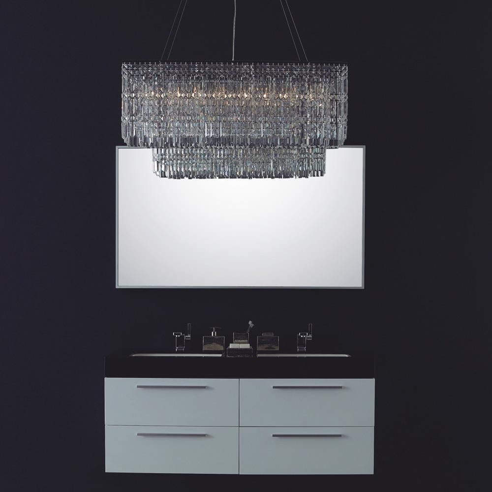 Lusso Stone Bellagio Double Designer Bathroom Wall Mounted Vanity Unit 1380 Vanity Units