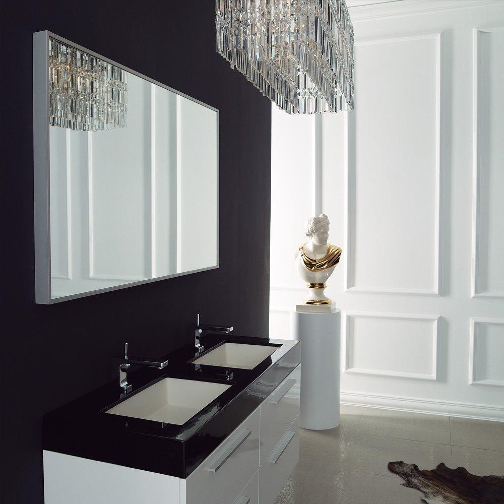 Lusso Stone Bellagio Double Designer Bathroom Wall Mounted Vanity ...