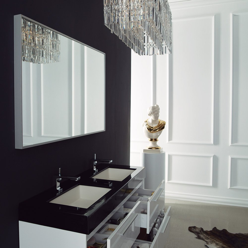 Bathroom accessories wall mounted -  Designer Bathroom Accessories Lusso Stone Bellagio Double Designer Bathroom Wall Mounted Vanity