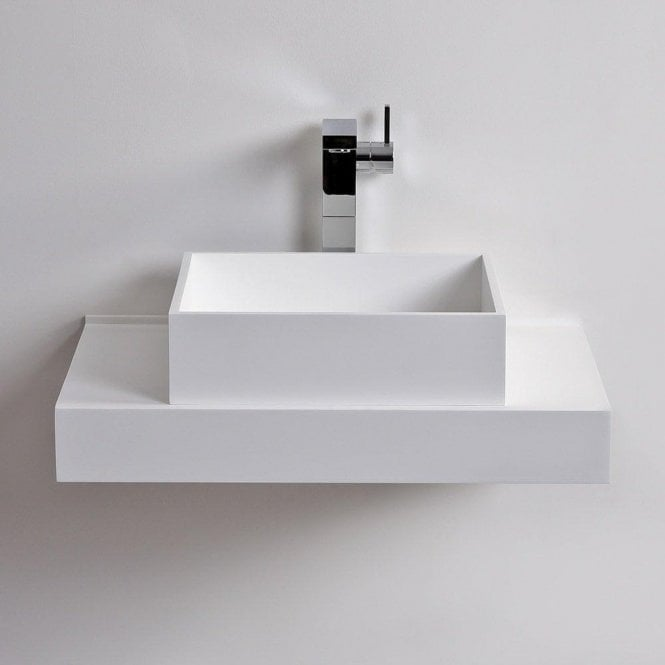 Cube Stone Resin Counter Top Basin 400