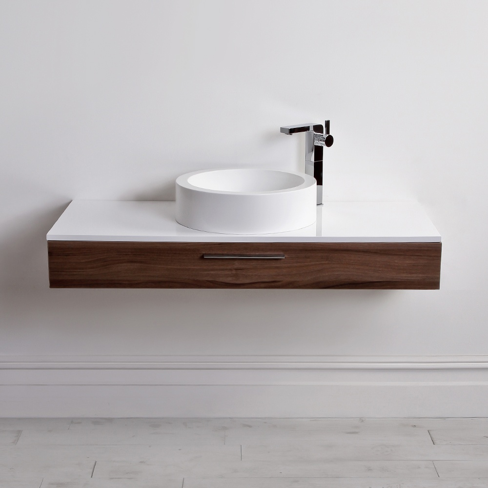 lusso stone edge slim drawer wall mounted bathroom vanity unit  - lusso stone edge slim drawer wall mounted bathroom vanity unit  basin  vanity units