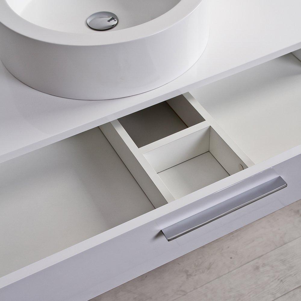 Bathroom vanity 1200 - Lusso Stone Edge Slim Drawer Wall Mounted Bathroom Vanity Unit Amp Basin 1200