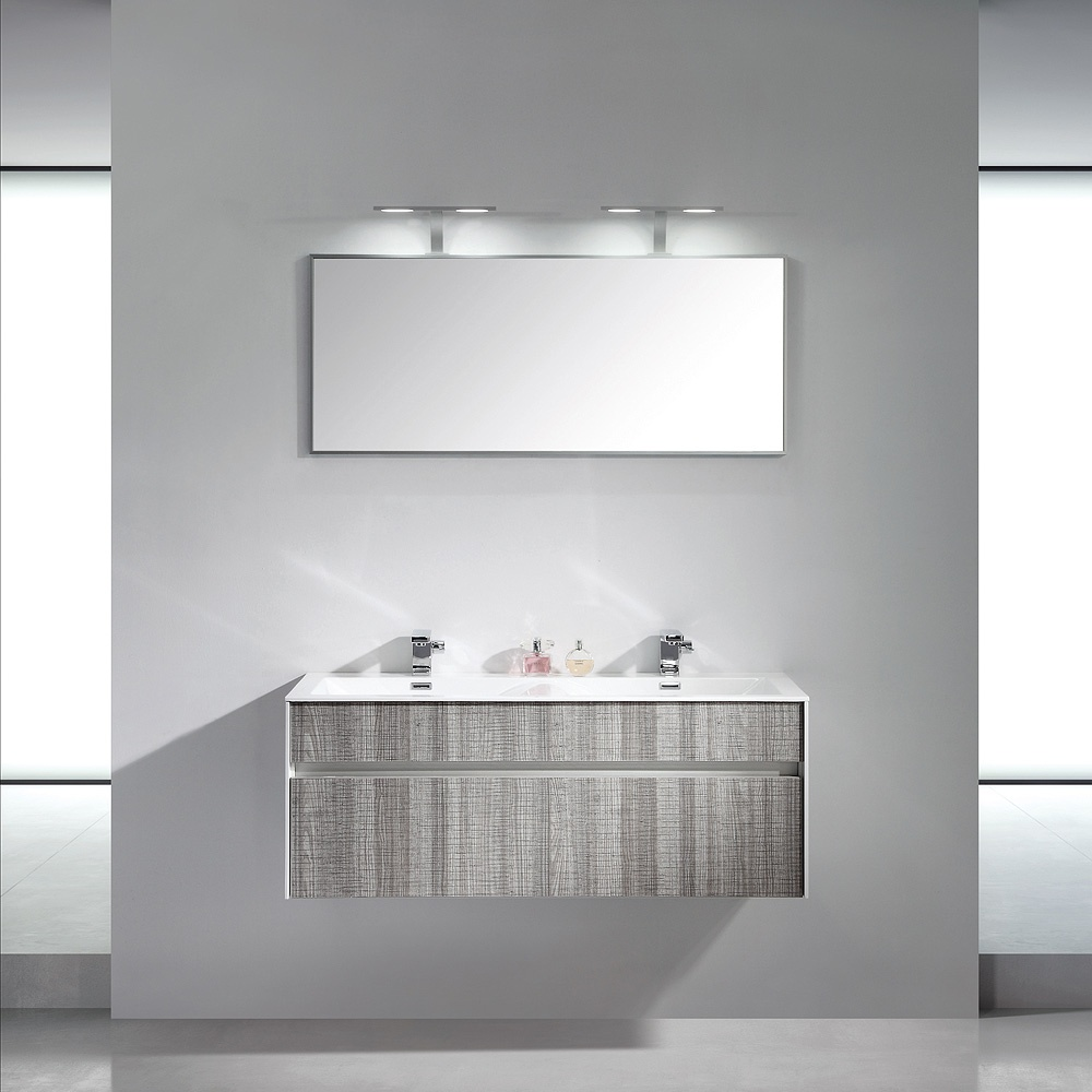 Lusso Stone Encore Double Designer Wall Mounted Bathroom Vanity Unit 1200 |  Vanity Units