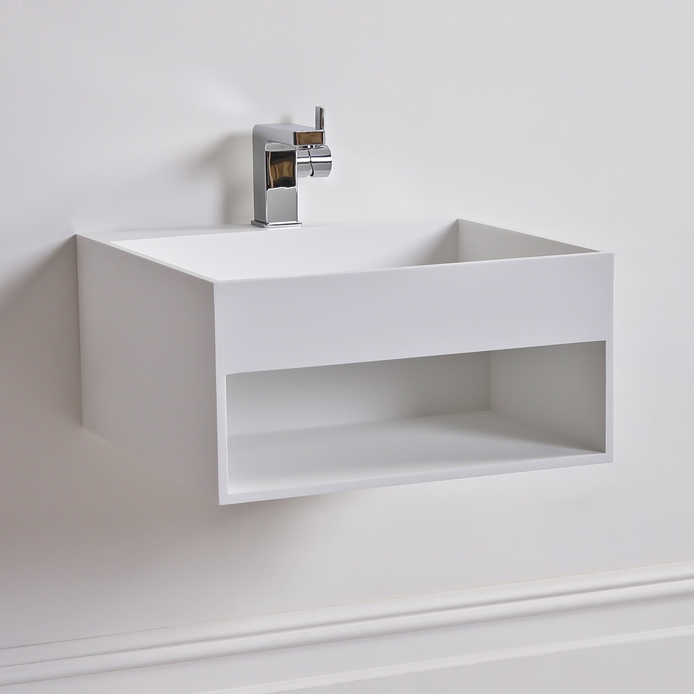 The Ethos Stone Resin Milano Stone Counter Top Basin Wall Hung