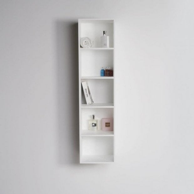 Lusso Stone Ethos wall mounted stone resin storage cabinet 1200