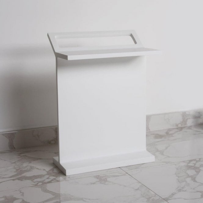 Lusso Stone Freestanding bath shelf with towel rail
