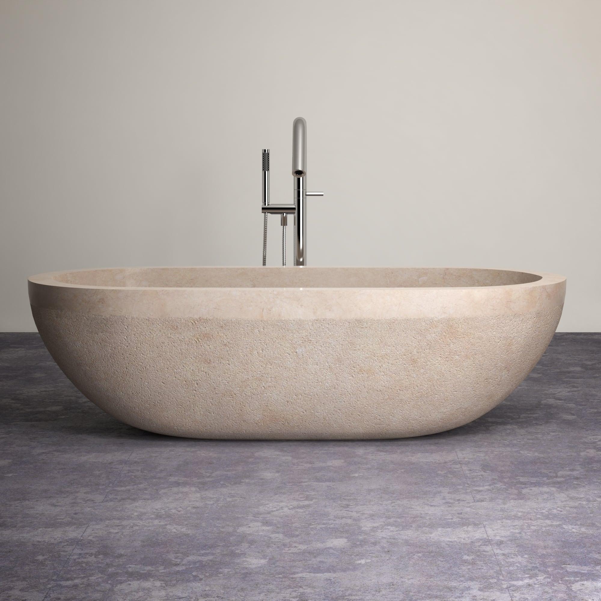 Lusso stone marble bath luxury marble bath galala marble for Limestone bathtub
