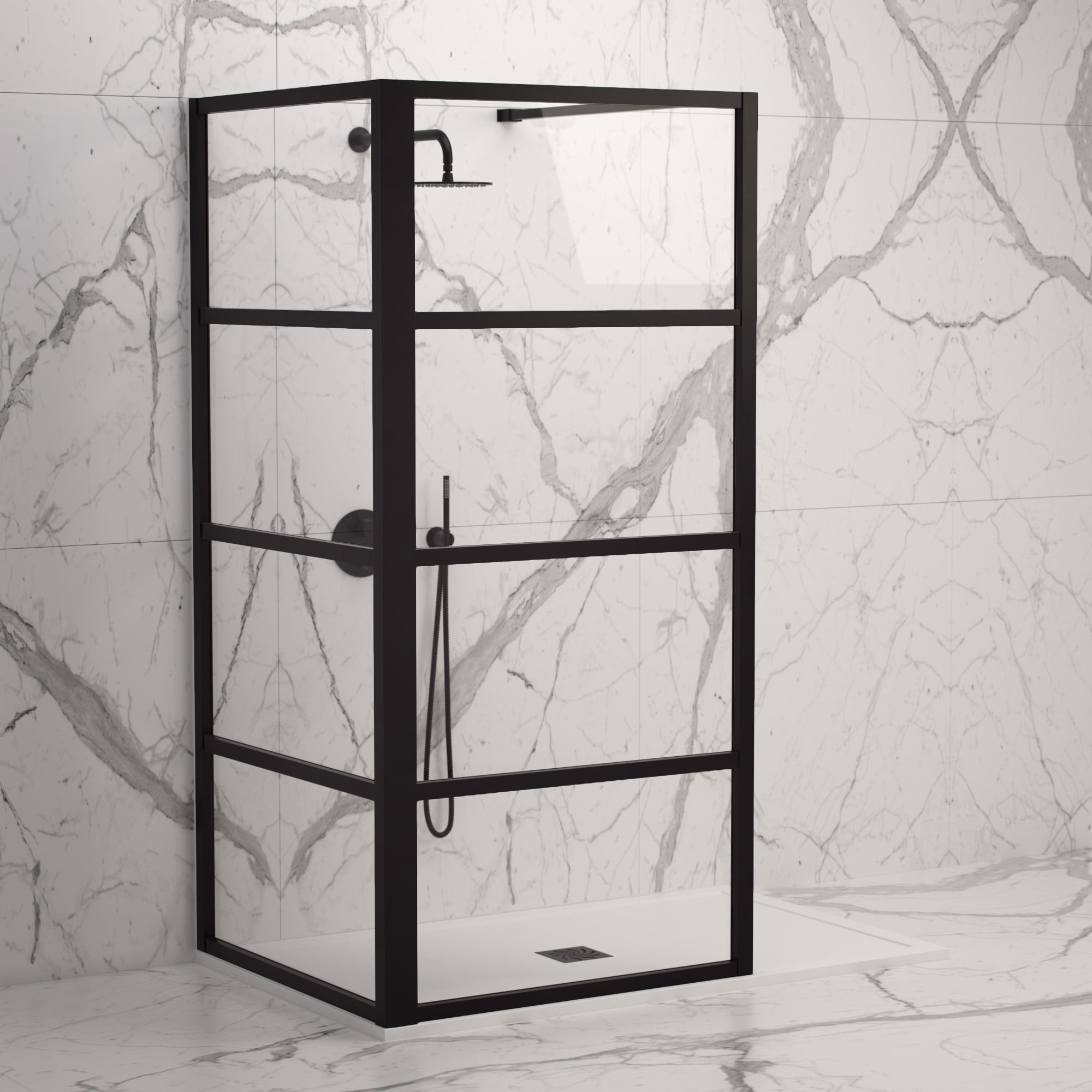 Lusso Stone Complete Walk In Shower Enclosure Kit C All Sizes