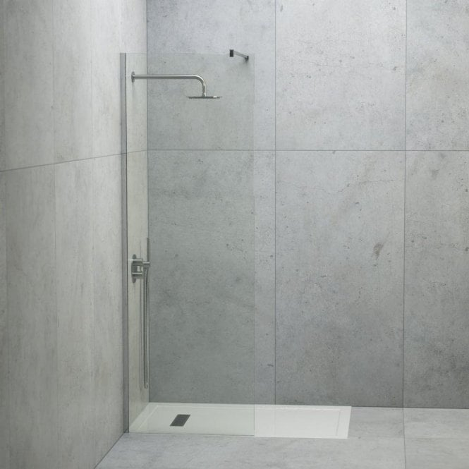 LUSSO STONE LINEAR COMPLETE WALK IN SHOWER ENCLOSURE - KIT A (ALL SIZES)