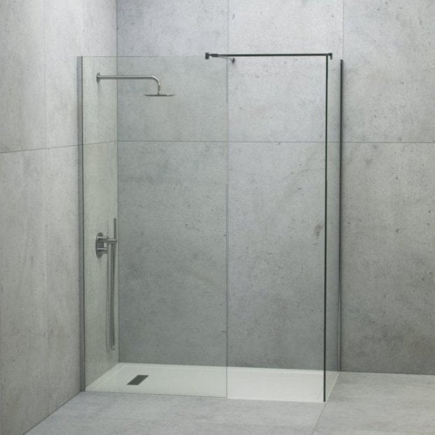 LUSSO STONE LINEAR COMPLETE WALK IN SHOWER ENCLOSURE - KIT B (ALL SIZES)