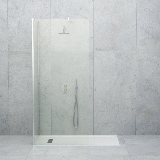 LUSSO STONE LINEAR COMPLETE WALK IN SHOWER ENCLOSURE - KIT C (ALL SIZES)