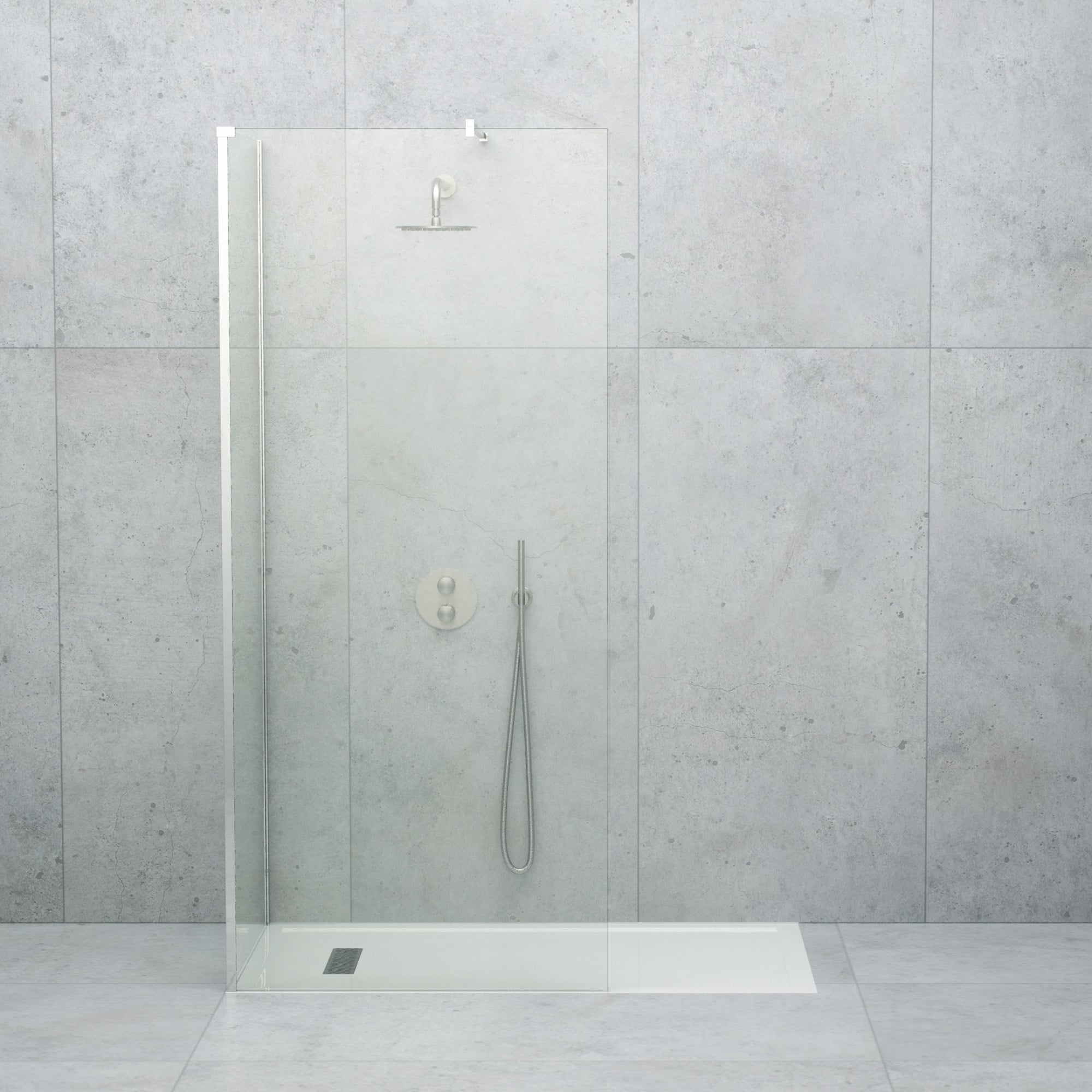 LUSSO STONE LINEAR COMPLETE WALK IN SHOWER ENCLOSURE   KIT C (ALL SIZES)