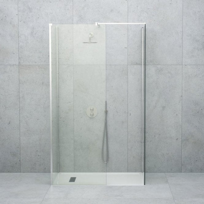 LUSSO STONE LINEAR COMPLETE WALK IN SHOWER ENCLOSURE - KIT D (ALL SIZES)