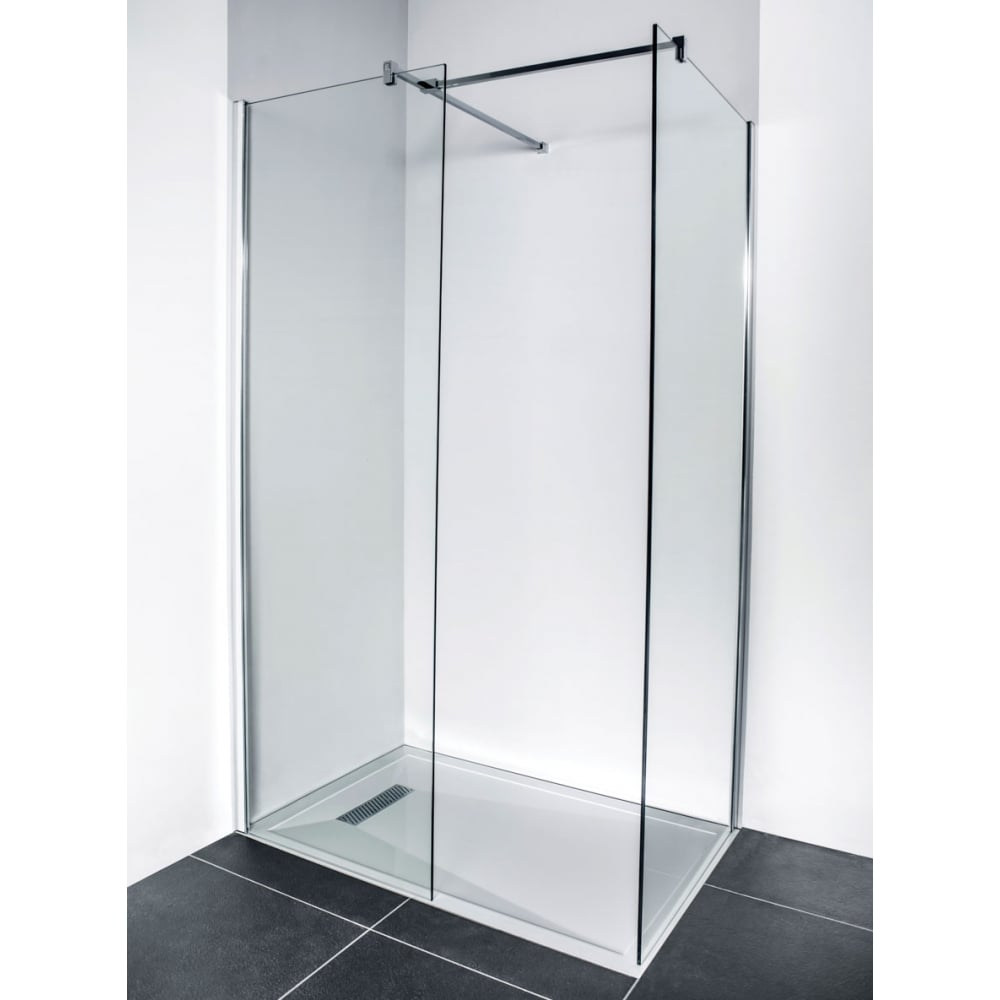 LINEAR MODERN LOW PROFILE POLISHED STONE RESIN SQUARE SHOWER TRAY 900 X