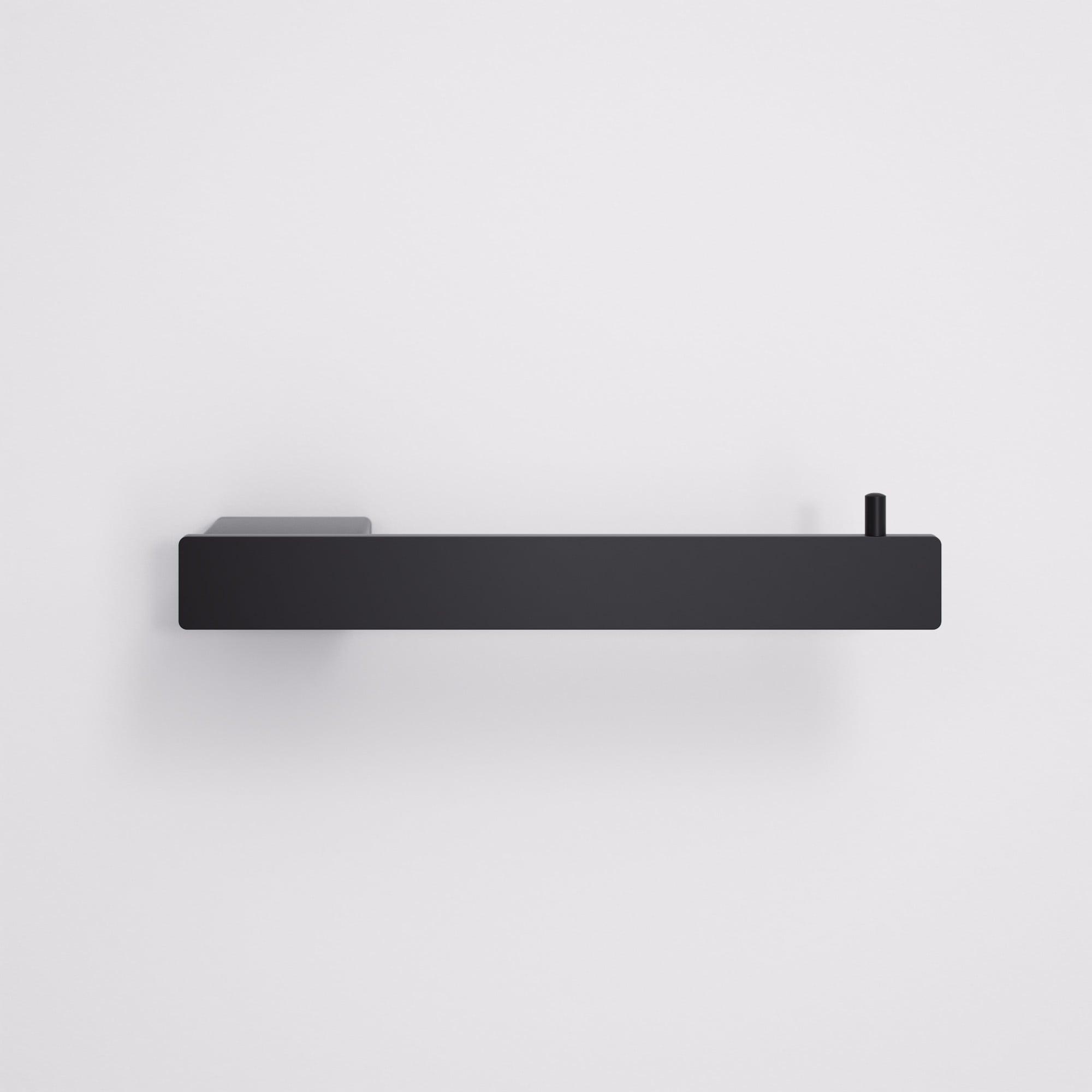 Lusso Mia Toilet Roll Holder Matte Black Accessories