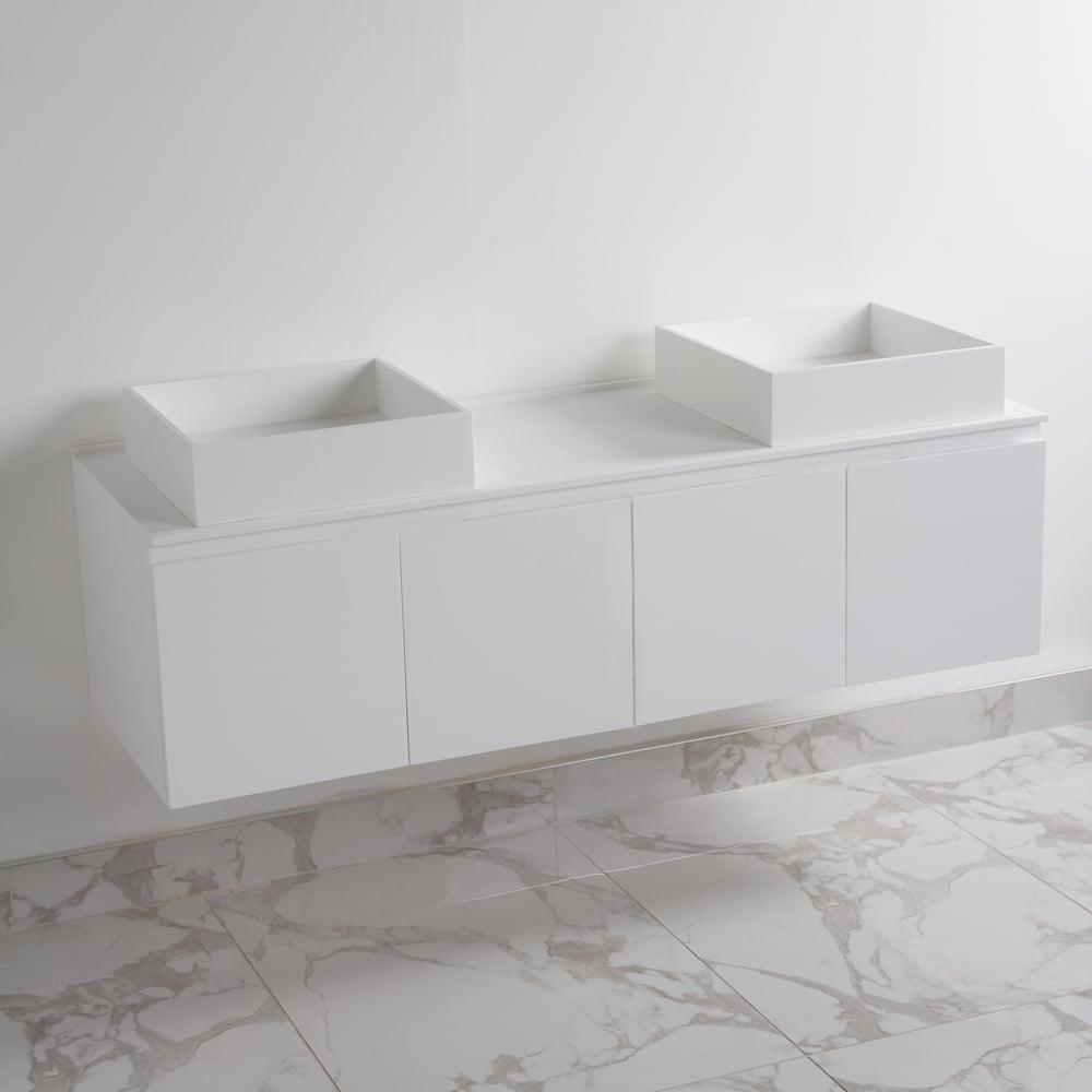 Stone Vanity Basin : LUSSO STONE VANITY UNIT UNIQUE WHITE STONE