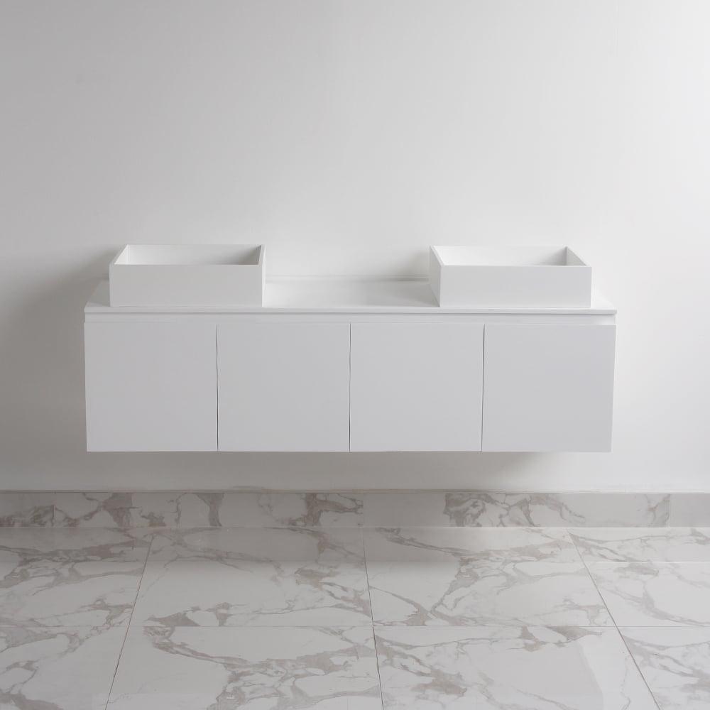 Lusso stone luxor bathroom vanity basin cabinet 1400 for Luxor baths