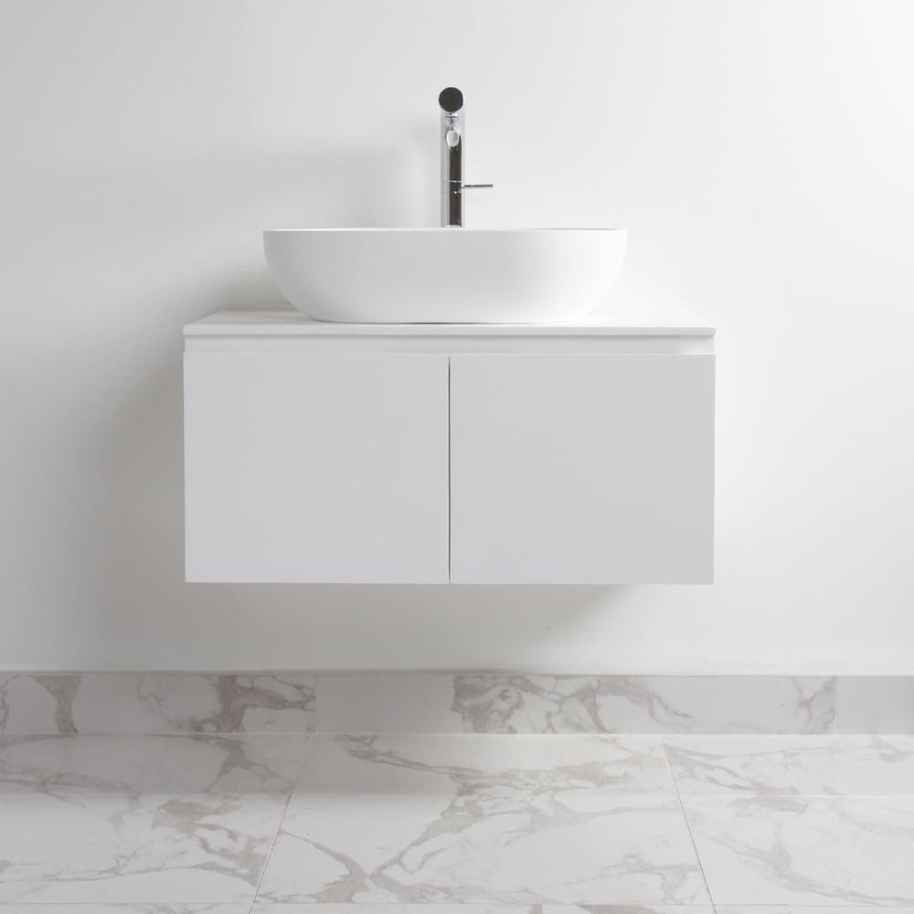 Lusso Stone Luxor Bathroom Vanity Basin Cabinet 800 | Vanity Units