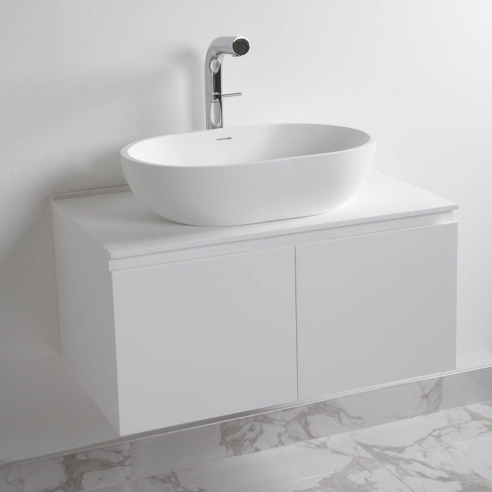 Lusso Stone Luxor Bathroom Vanity Basin Cabinet 800