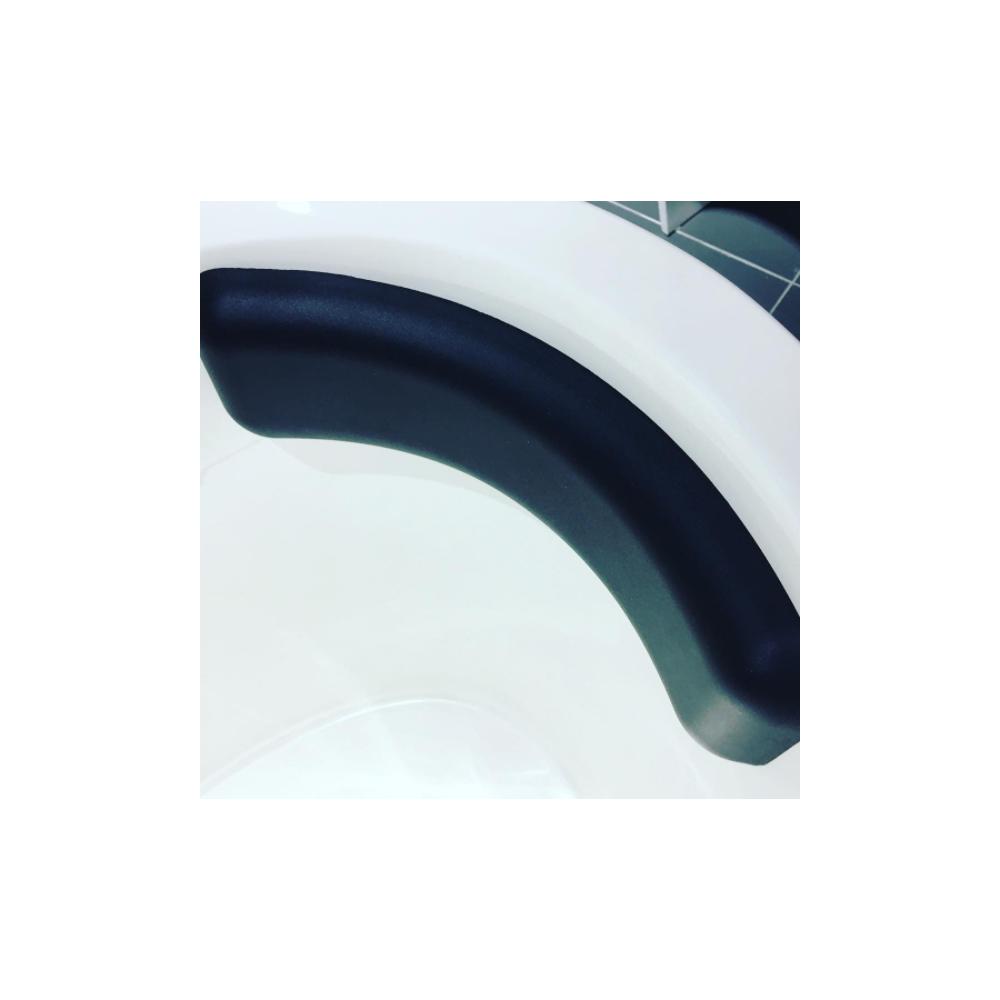Lusso Stone Luxury Silicone Black Bath Headrest Pillow   Accessories