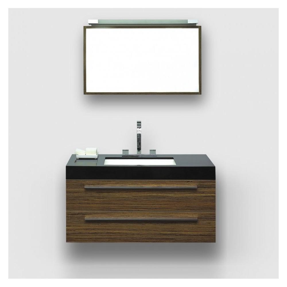 Lusso stone mezzano zebrano designer wall mounted bathroom - Designer vanity units for bathroom ...